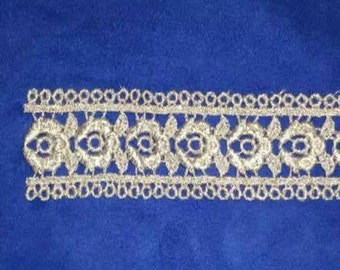Venice lace SILVER METALLIC