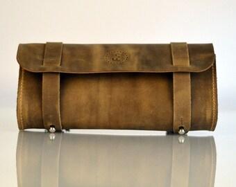 Leather handlebar bag, bicycle saddlebag, bicycle bag, bicycle purse, bike purse, bike pannier, bicycle pannier, gifts for cyclists