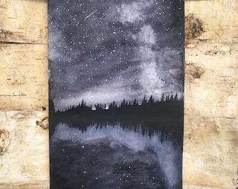 Starry Night Reflection Original Painting