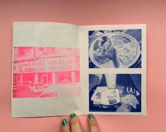 Photozine, risograph, zine, Qatar, photo zine, risographed zine, Qatar photos by Estelle Flores