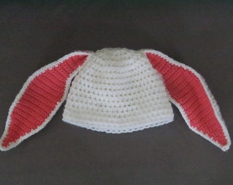 Crochet Bunny Hat (*Specify Colors in Notes*)