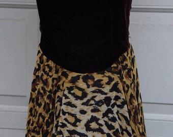 Vintage 80s - 90s  Leopard Dress  Nye
