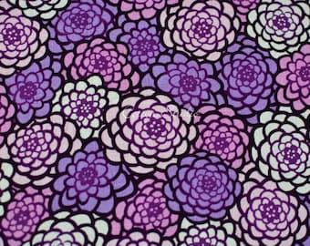 Tissu japonais chrysanthème violet par la Cour de la moitié japonaise en Kimono moderne impression Floral