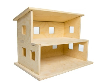 Wooden Dollhouse - Handmade - Dollhouse Kit - Baby Shower Gift - Montessori Toys