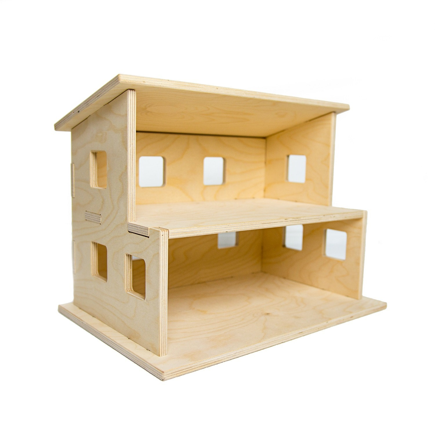 Wood Dollhouse Kids Toy Handmade Wooden Toy Doll House