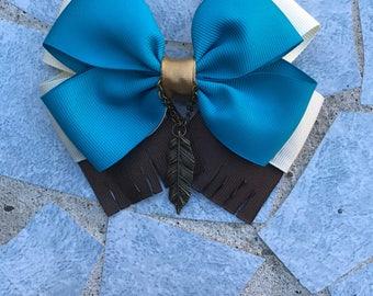 Pocahontas hair bow, pocahontas inspired hairbow