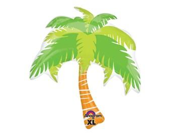 "33"" Palm Tree Balloon - Luau Party Decorations - Hawaii Bridal Shower - Tropical Party - Aloha Bridal Shower - Aloha Bachelorette - Summer"