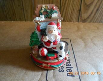 Santa Fireplace Figurine