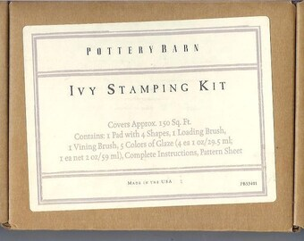 Ivy Stamping Kit  by Pottery Barn  PB53401    Vintage Item Decorating