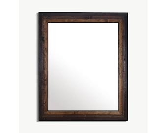 Reclaimed Wood Mirror   Wood Mirror   Modern Mirror   Large Wall Mirror   Vanity Mirror   Bathroom Mirror   Wall Mirror   Large Wood Mirror