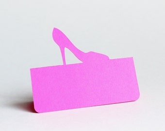 High Heel Place Cards Set of 50, wedding place card, wedding escort card, bridal shower