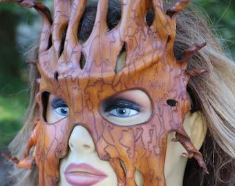 leather tree bark mask/face mask