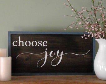 choose joy rustic wood sign