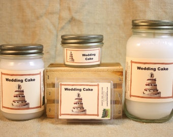 Wedding Cake Scent Candles and Wax Melts, Bakery Scent Candle Wax, Highly Scented Candles and Wax Tarts, Great Scent for Wedding Favors