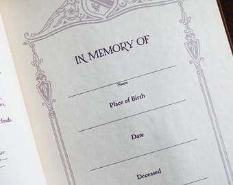 1929 Mourning Book