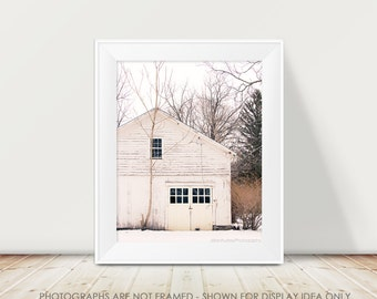 Rustic Barn Photograph, Barn Photography, Rural Decay, Abandoned Barn, Cream White, Modern, Minimalist, Country, Shabby Chic, Cottage Decor