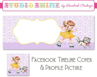 DIY Facebook Cover Package - Facebook Timeline Cover and Profile Picture - Fun Times - Website or Blog Banner Digital Instant Download
