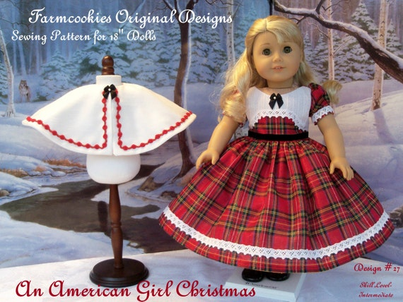 PDF Sewing Pattern / An American Girl Christmas / Clothes Fit American Girl® / 18 Inch Doll Clothes Pattern fits American Girl