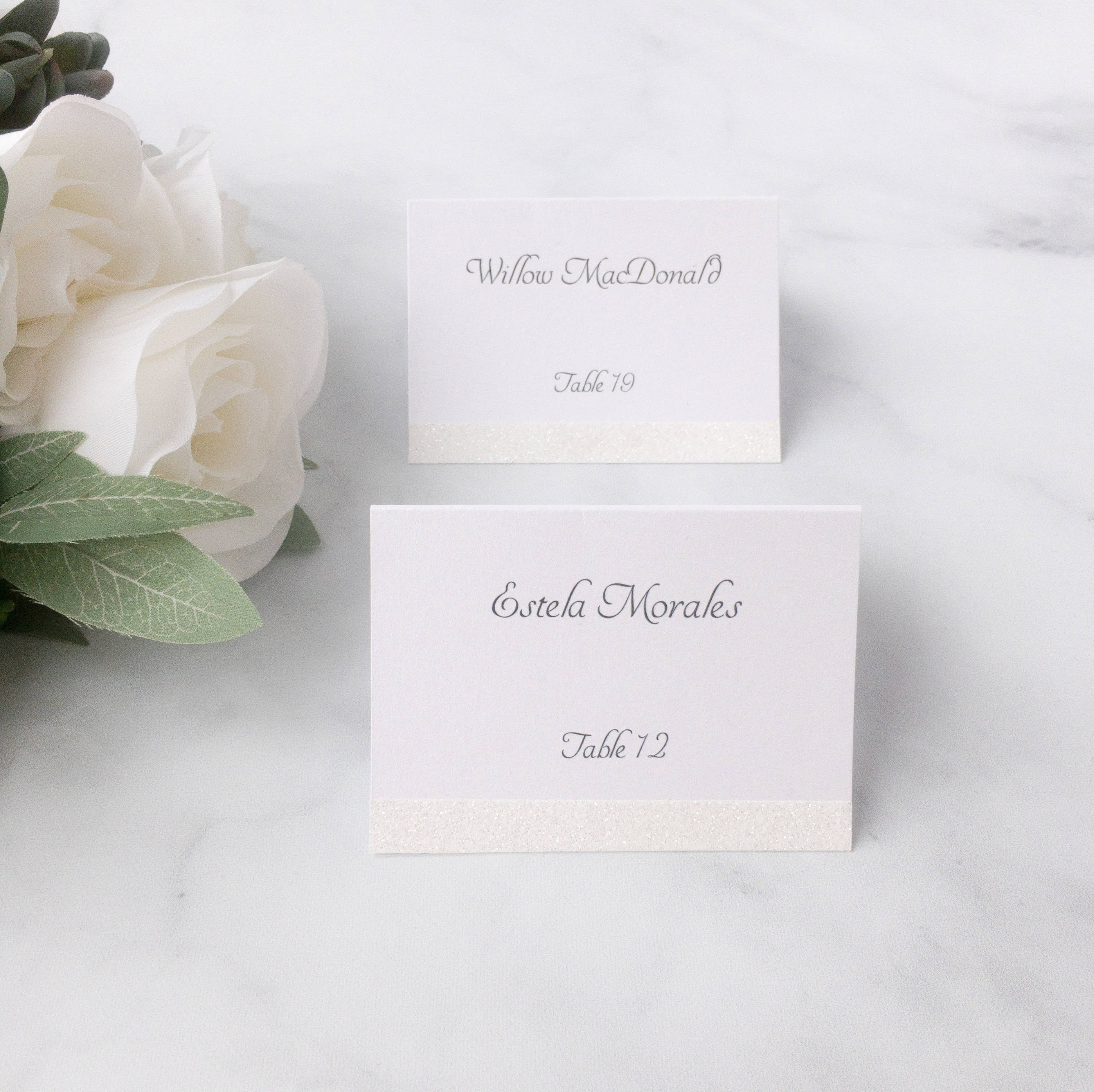 Wedding Place Cards Glitter Place Cards Escort Cards