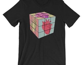 Heart-Head-Hand Rubix Cube Tee