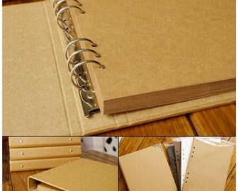 Kraft Paper Notebook / Photo ALBUM / Hand-painted Graffiti Day Book / DIY Leather Wedding Albums (KB02)