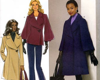 Butterick B5401 Sewing Pattern for Misses' Coat - Uncut - Size 8, 10, 12, 14