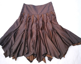 Medium skirt. Vintage, skirts, ladies clothing, Klokrok, brown skirt, bohemian skirt, Stylish, Gypsy skirt