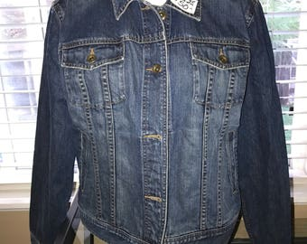 Denim Vintage Jacket - Ralph Lauren - Women's Large