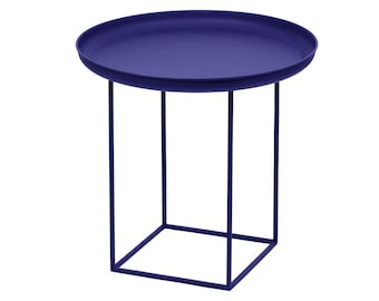 Telles table with removable tray - blue