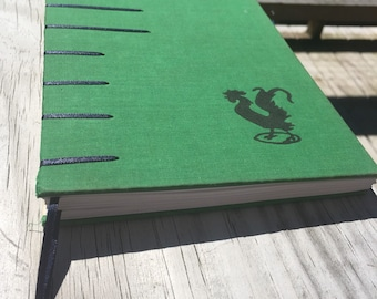 Strutting Rooster Green with Black and Blue Unlined Journal