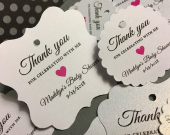Wedding favor tags, personalized favor tags, baby shower, bridal shower