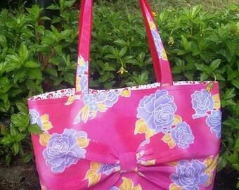 Butterfly Ribbon Batik Tote Bag, Rose Batik, Handmade Bag, Make in Malaysia, Casual Tote