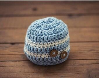 crochet baby hat/baby boy beanie/baby boy hats/knit photo prop hat/newborn photo prop/photography prop hat/newborn baby beanie/crochet hat