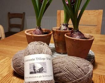 Croscombe Village 4ply Undyed Shetland Wool