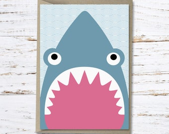 Shark greeting card // Shane the shark // High quality 350gsm matt card