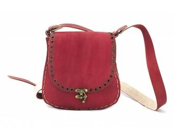 Agatha 1024: Women Classic Leather Shoulder Bag