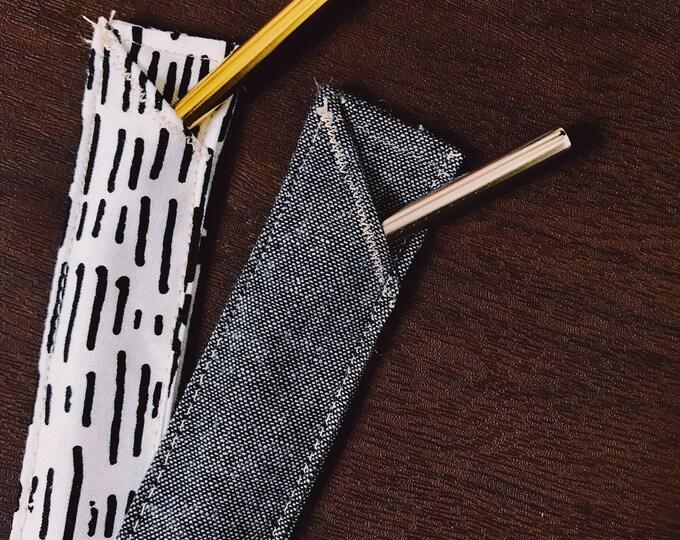 Charcoal Straw Sleeve Set