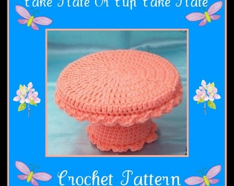 Cake Plate Or Cup Cake Plate Crochet Pattern