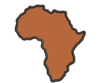 Africa applique embroidery design