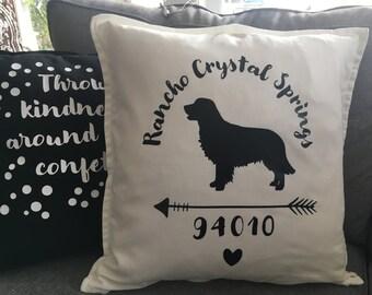 Custom Dog Arrow Pillow