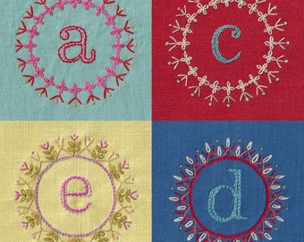 Decorative Alphabet IRON ON TRANSFER for embroidery