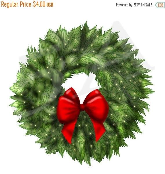 50 off christmas wreath clipart clip art wreath clipart rh etsy com patriotic christmas wreath clipart themed christmas wreath clipart