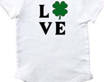Infant Irish Bodysuit - Irish Baby - St Patrick's Day - Baby Love - Baby - Four Leaf Clover - Infant Holiday - Irish - Shamrock Baby - Lucky
