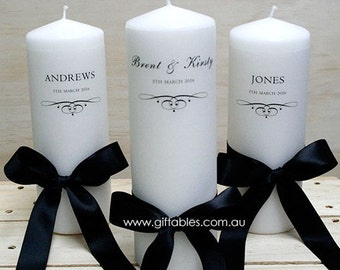 Wedding Family Candles - Set of 3