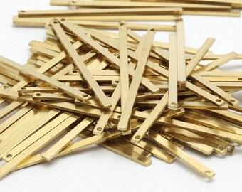 Brass Bar Pendant, 25 Raw Brass Bars (45x2x1mm) Bs 1196--a0863