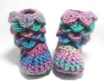 Newborn Girl Slippers - Crochet Baby Booties - Crochet Baby Shoes
