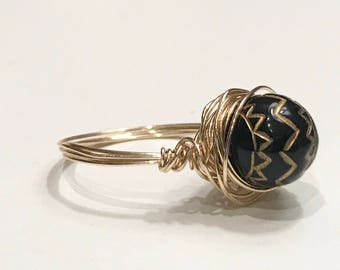 Boho Wire Wrapped Ring