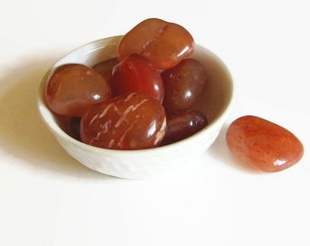 Carnelian Tumbled from Brazil · Healing Stones · Tumbled Carnelian · Fiery