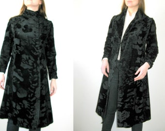 Short Hair Black Faux Fur Coat