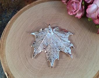 Maple Leaf Pendant, Silver Maple Leaf Pendant,  Silver Maple Leaf, Leaf Pendant, Nature Pendant, Large Leaf Pendant, PS2701